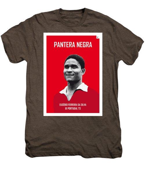 My Eusebio Soccer Legend Poster Men's Premium T-Shirt by Chungkong Art