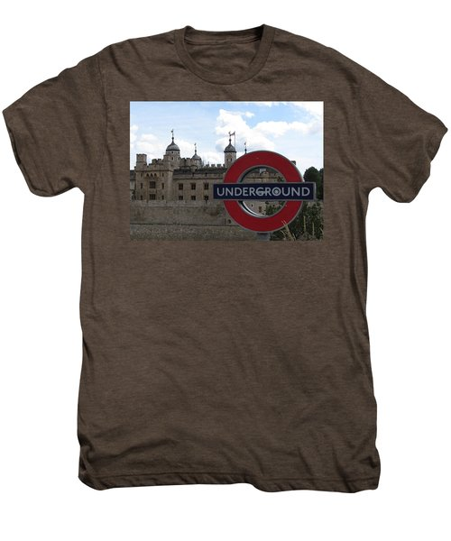 Next Stop Tower Of London Men's Premium T-Shirt by Jenny Armitage