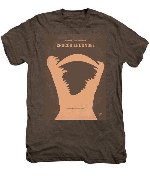 No210 My Crocodile Dundee Minimal Movie Poster Men's Premium T-Shirt by Chungkong Art
