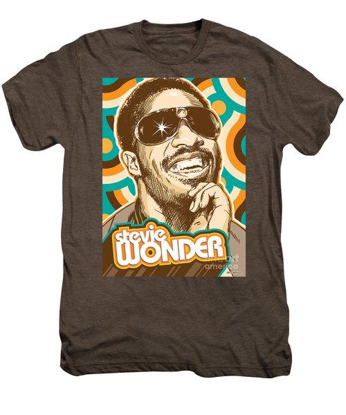 Stevie Wonder Pop Art Men's Premium T-Shirt by Jim Zahniser