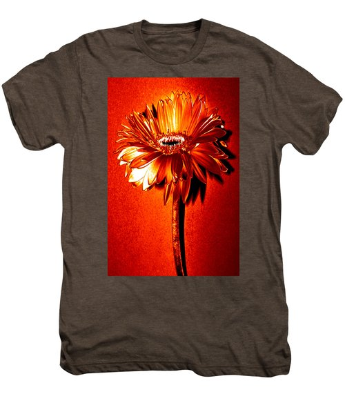 Tequila Sunrise Zinnia Men's Premium T-Shirt by Sherry Allen