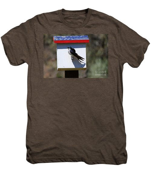 Tree Swallow Home Men's Premium T-Shirt by Mike  Dawson