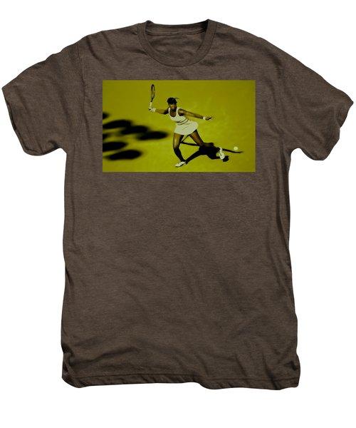 Venus Williams In Action Men's Premium T-Shirt by Brian Reaves