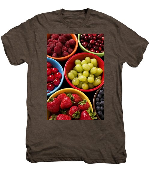 Bowls Of Fruit Men's Premium T-Shirt by Garry Gay
