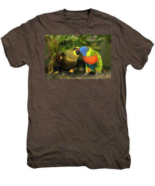 Kissing Birds Men's Premium T-Shirt by Carolyn Marshall