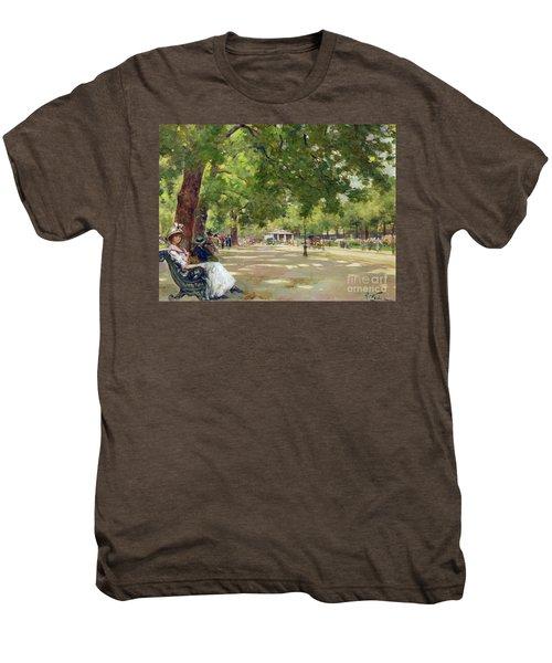 Hyde Park - London Men's Premium T-Shirt by Count Girolamo Pieri Nerli