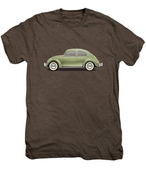1957 Volkswagen Deluxe Sedan - Diamond Green Men's Premium T-Shirt by Ed Jackson