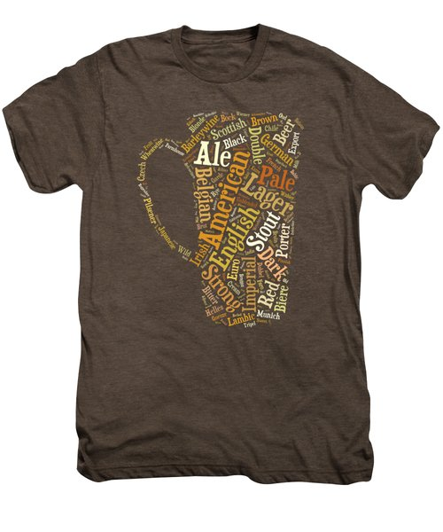 Beer Lovers Tee Men's Premium T-Shirt by Edward Fielding