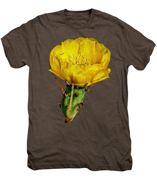 Cactus Flower Op26 Men's Premium T-Shirt by Mark Myhaver