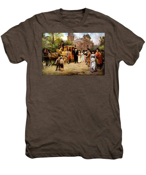 George Washington Arriving At Christ Church Men's Premium T-Shirt by War Is Hell Store