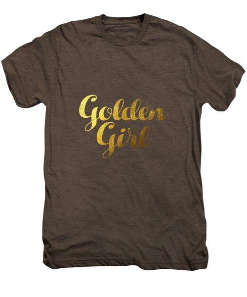 Golden Girl Typography Men's Premium T-Shirt by Bekare Creative