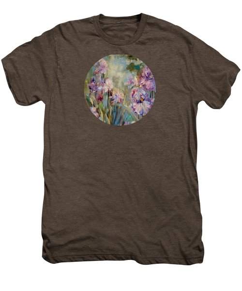 Iris Garden Men's Premium T-Shirt by Mary Wolf