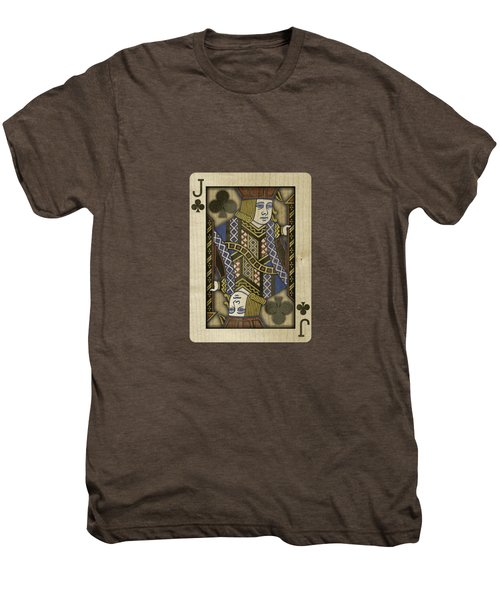 Jack Of Clubs In Wood Men's Premium T-Shirt by YoPedro
