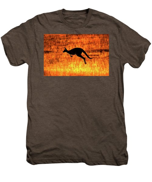 Kangaroo Sunset Men's Premium T-Shirt by Bruce J Robinson