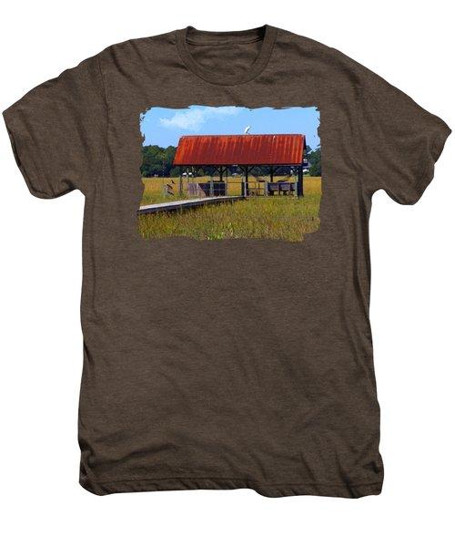 Midday Island Creek View Men's Premium T-Shirt by Deborah Smith