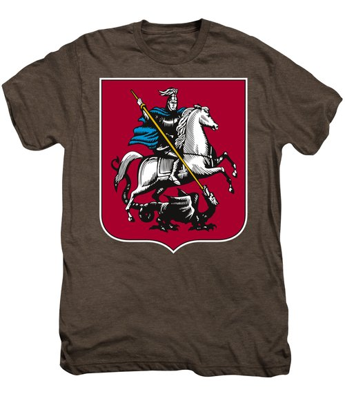 Moscow Coat Of Arms Men's Premium T-Shirt by Frederick Holiday