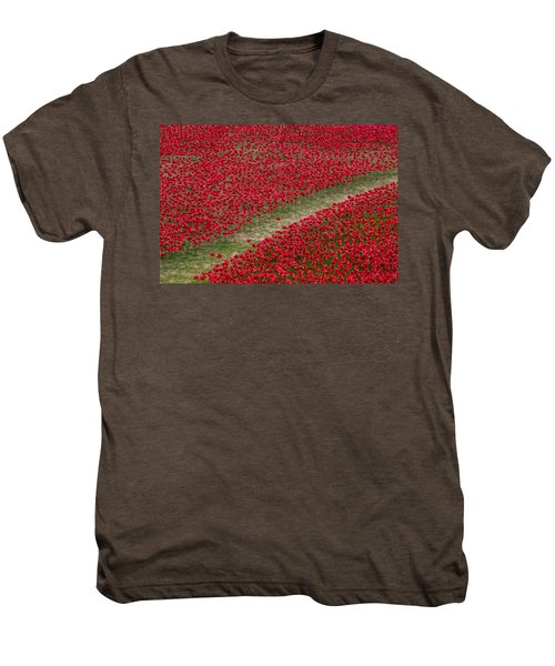 Poppies Of Remembrance Men's Premium T-Shirt by Martin Newman