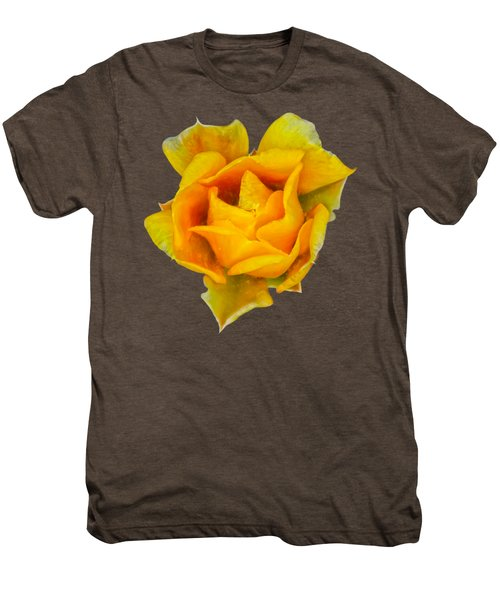Prickly Pear Flower H11 Men's Premium T-Shirt by Mark Myhaver