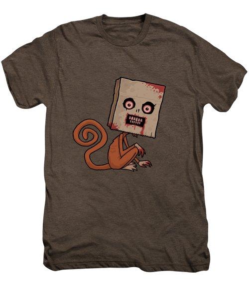 Psycho Sack Monkey Men's Premium T-Shirt by John Schwegel