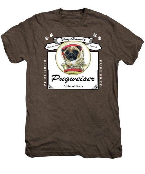 Pugweiser Beer Men's Premium T-Shirt by John LaFree