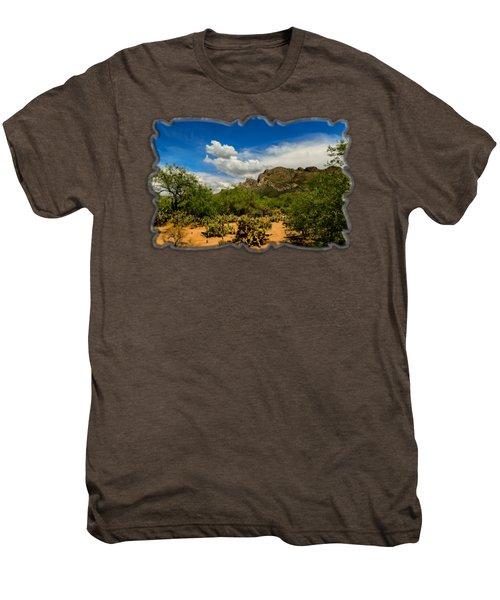 Pusch Ridge Vista H14 Men's Premium T-Shirt by Mark Myhaver
