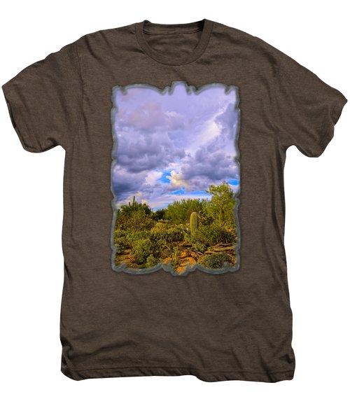 Sonoran Desert V13 Men's Premium T-Shirt by Mark Myhaver