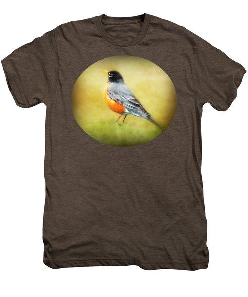 Spring Robin Men's Premium T-Shirt by Anita Faye