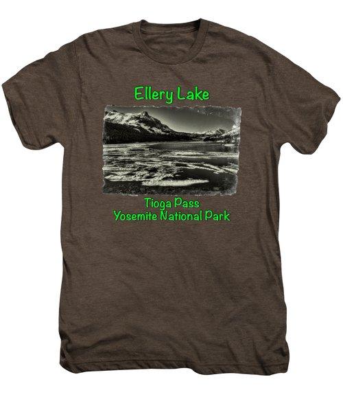 Tioga Pass Lake Ellery Early Summer Men's Premium T-Shirt by Roger Passman