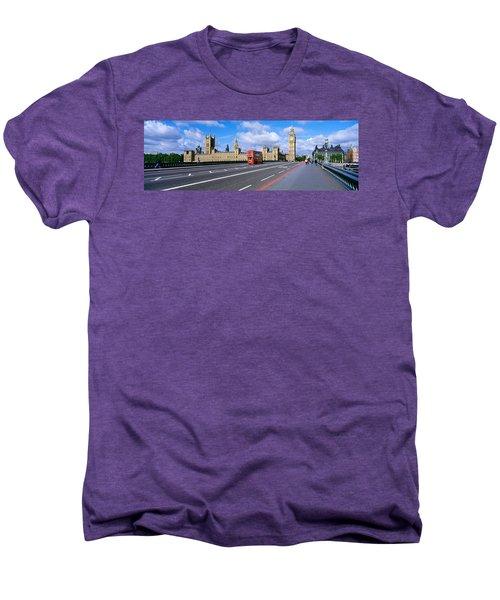 Parliament Big Ben London England Men's Premium T-Shirt by Panoramic Images