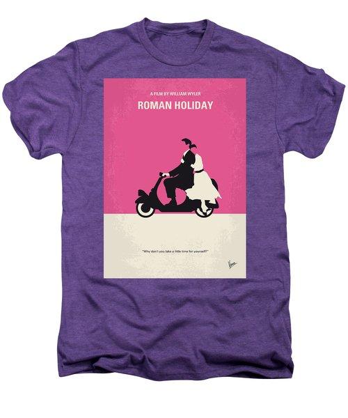 No205 My Roman Holiday Minimal Movie Poster Men's Premium T-Shirt by Chungkong Art