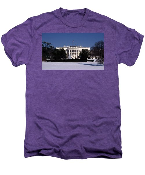Winter White House  Men's Premium T-Shirt by Skip Willits