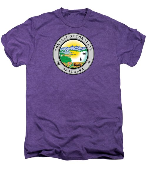Alaska State Seal Men's Premium T-Shirt by Movie Poster Prints
