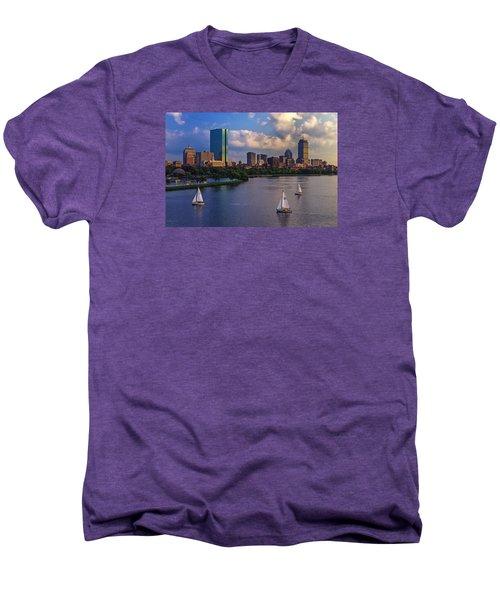 Boston Skyline Men's Premium T-Shirt by Rick Berk