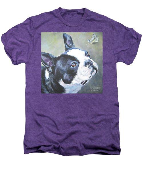 boston Terrier butterfly Men's Premium T-Shirt by Lee Ann Shepard