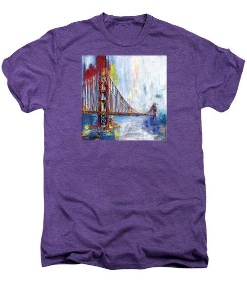 Golden Gate Bridge 218 1  Men's Premium T-Shirt by Mawra Tahreem