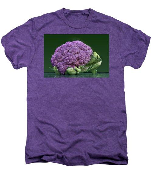Purple Cauliflower Men's Premium T-Shirt by Nikolyn McDonald