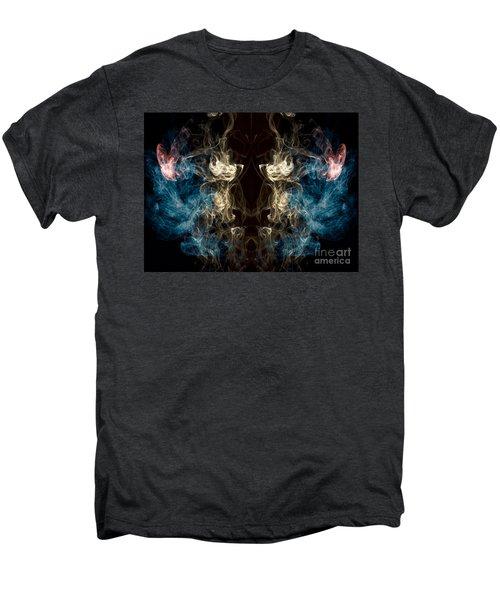 Minotaur Smoke Abstract Men's Premium T-Shirt by Edward Fielding
