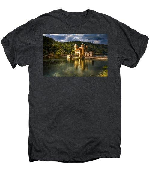 Chateau De La Roche Men's Premium T-Shirt by Debra and Dave Vanderlaan