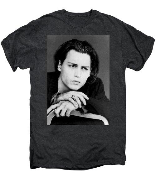Johnny Depp Men's Premium T-Shirt by Karon Melillo DeVega
