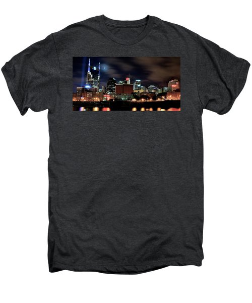 Nashville Panoramic View Men's Premium T-Shirt by Frozen in Time Fine Art Photography