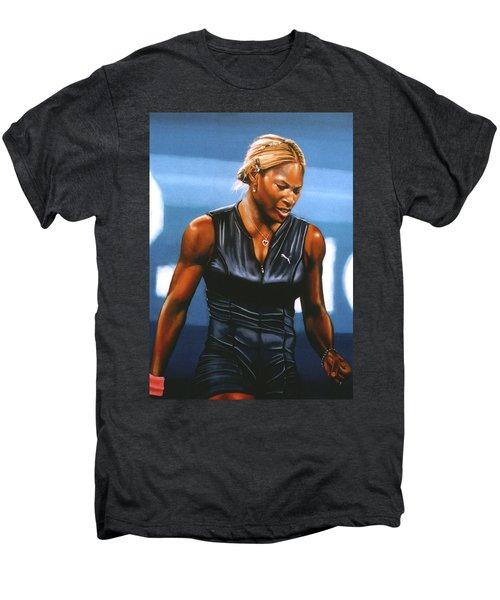 Serena Williams Men's Premium T-Shirt by Paul Meijering