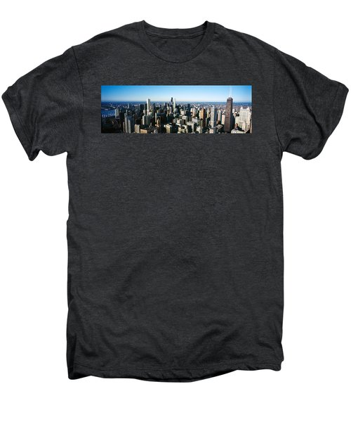 Skyscrapers In A City, Hancock Men's Premium T-Shirt by Panoramic Images