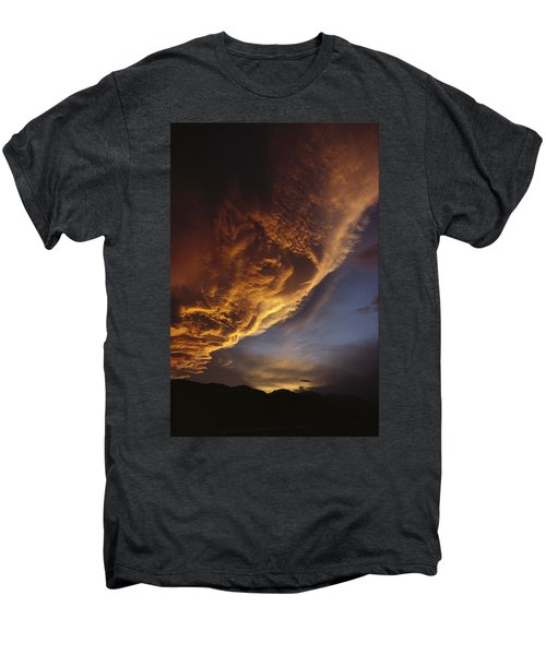 Sunset On Storm Clouds Near Mt Cook Men's Premium T-Shirt by Ian Whitehouse