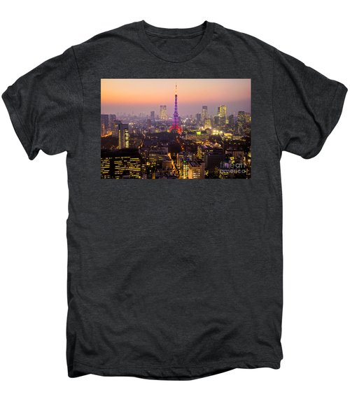 Tokyo Tower - Tokyo - Japan Men's Premium T-Shirt by Luciano Mortula