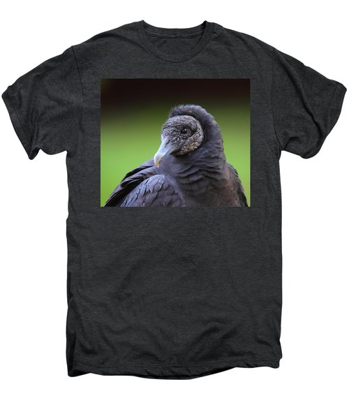 Black Vulture Portrait Men's Premium T-Shirt by Bruce J Robinson