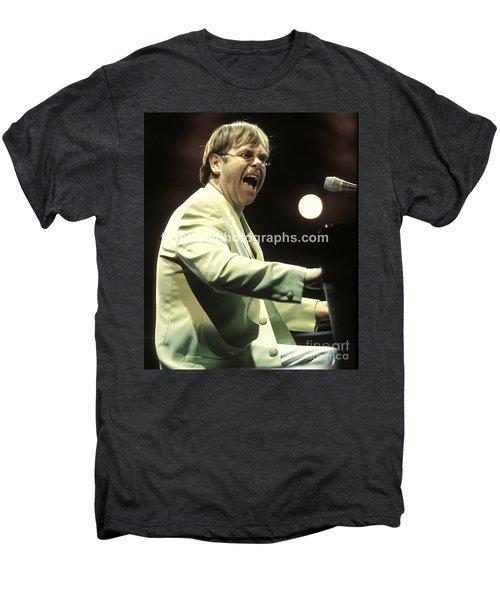 Elton John Men's Premium T-Shirt by Concert Photos