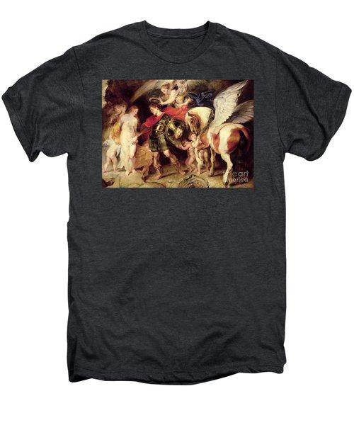 Perseus Liberating Andromeda Men's Premium T-Shirt by Peter Paul Rubens