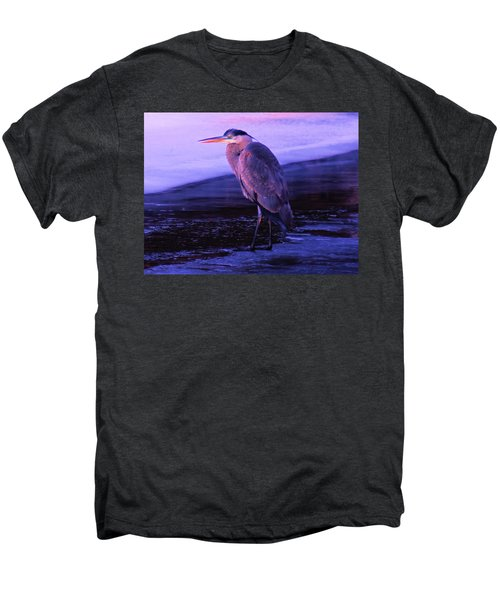 A Heron On The Moyie River Men's Premium T-Shirt by Jeff Swan