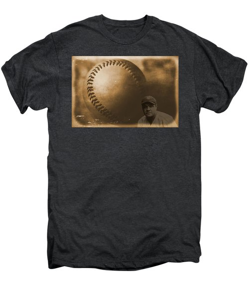 A Tribute To Babe Ruth And Baseball Men's Premium T-Shirt by Dan Sproul