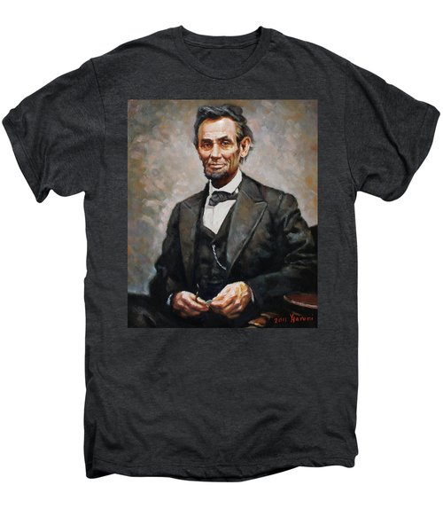 Abraham Lincoln Men's Premium T-Shirt by Ylli Haruni